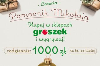 """Start loterii """"Pomocnik Mikołaja"""" w sklepach Groszek"""