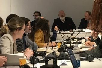 Agnieszka Maliszewska na spotkaniu z Wiceprzewodniczącym KE, Frans'em Timmermans'em