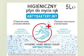 Higieniczny płyn do mycia rąk –antybakteryjny