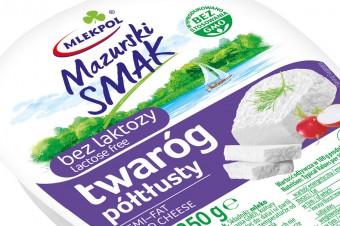 Wiosenna nowość Mlekpolu - twaróg półtłusty bez laktozy Mazurski Smak