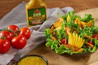 Sałatka honey mustard z Sosem miodowo-musztardowym Roleski