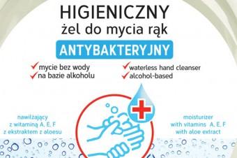 Higieniczny żel do mycia rąk – Antybakteryjny