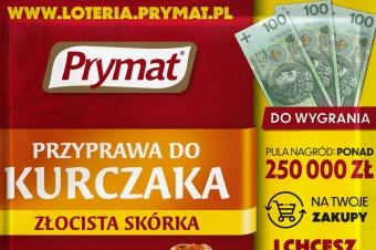Wielka loteria marki Prymat zpulą 250 tys. zł