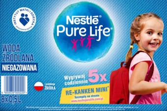 Kup wodę Nestlé Pure Life i wygraj plecak z materiału z recyklingu