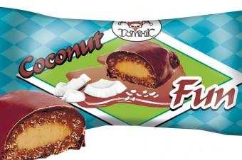 Zefir biało-różowy oraz cukierki Coconut Fun od Sofio