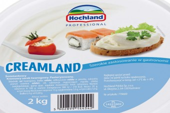 Hochland CREAMLAND - kremowy ser twarogowy o szerokim zastosowaniu w gastronomii