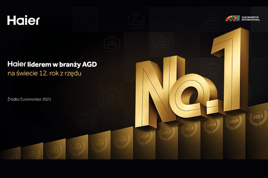 Haier liderem w branży AGD na świecie 12. rok z rzędu
