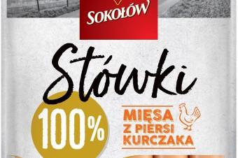 Nowość od Sokołowa - Stówki 100% mięsa z piersi kurczaka 100% smaku i dobry skład