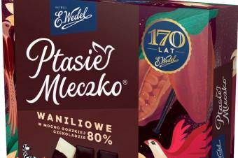 Ptasie Mleczko® Waniliowe w czekoladzie mocno gorzkiej 80%