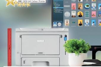 Kolorowa drukarka A4 C650 firmy OKI Europe otrzymała nagrodę Editor's Choice