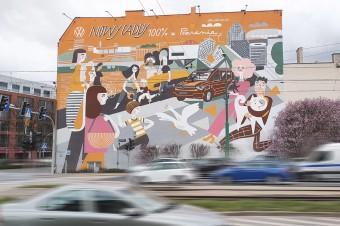 W centrum Poznania powstał mural marki Volkswagen Samochody Dostawcze