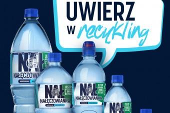 Nałęczowianka pierwszą marką w Polsce z pełnym portfolio wody niegazowanej w butelkach w 50% z plastiku z recyklingu