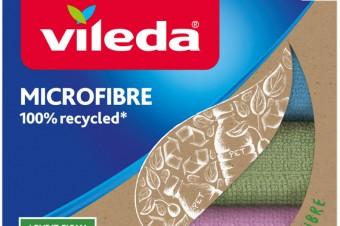 Vileda wprowadza na rynek nową ściereczkę z mikrofibry w 100% z recyklingu