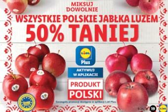 Lidl wprowadza promocję -50% na wszystkie polskie jabłka