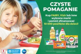 """10 000 posiłków trafi do potrzebujących dzieci w ramach akcji """"Czyste pomaganie"""""""