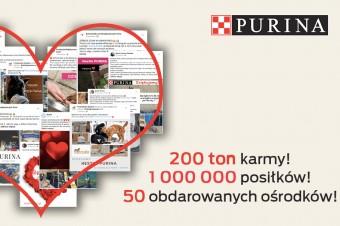 200 ton karmy dla bezdomnych zwierząt od Nestlé Purina