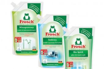 Innowacja marki Frosch: zapasy w eko workach