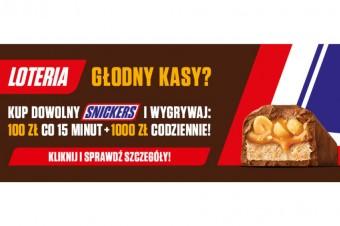 Głodny kasy? Wygrywaj w nowej loterii od Snickers®!