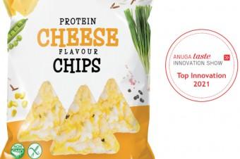 Chipsy Proteinowe Wegański Ser & Cebula nagrodzone na targach spożywczych ANUGA 2021